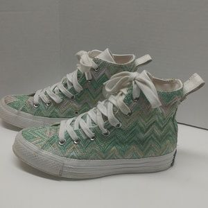 Converse CT Missoni Hi Tops Winter Green Women 5.5